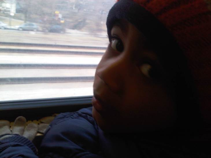 On the Metra!