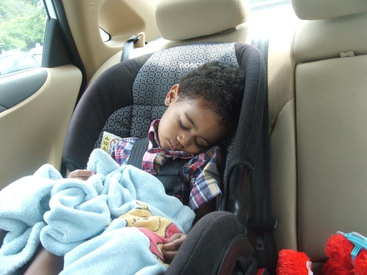 The boy asleep