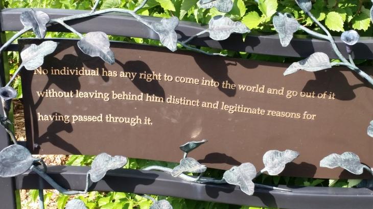 From George Washington Carver Garden in the St. Louis Botanic Garden