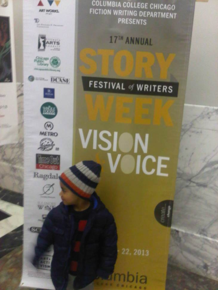 At HWLC for Story Week