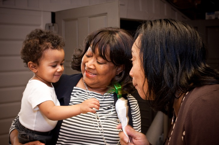 Bryce with Grannie and Grandma in 2011
